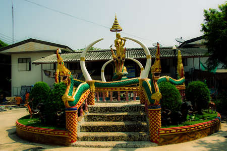 abbot: Ban Ladyai Chaiyaphum province of Thailand-22 October 2015. Buildings that beautiful Buddhist temple in Thailand. The common And this temple abbot and monks in the monastery in rural craftsmen are building their own. The funds for the construction of the  Editorial