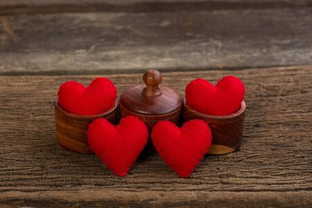 st  valentin: Valentine heart and love wooden background vintage retro style Stock Photo