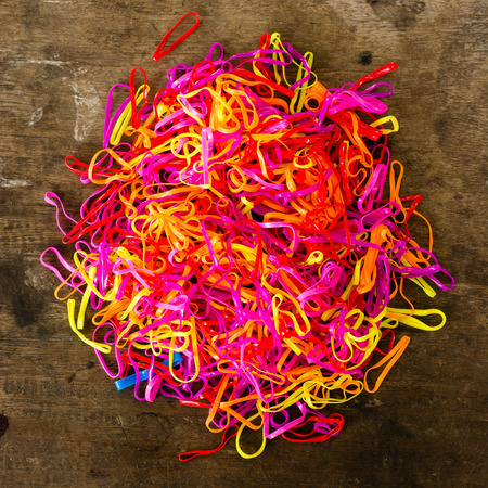 rubber bands: Colorful rubber bands, background