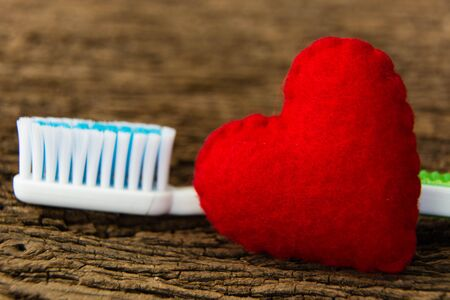 toothbrushes and Red hearts