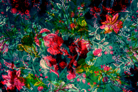 textured fabric  of flower vintage style