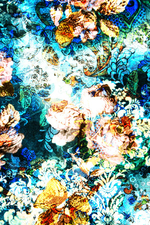 textured fabric flower of vintage