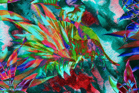 textured fabric flower