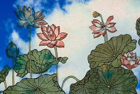 Medium Chinese painting of a Lotus