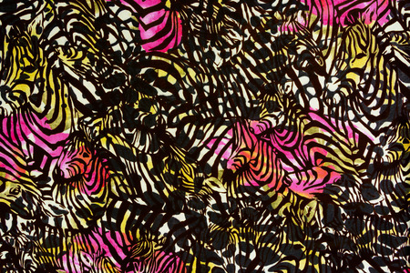 Texture fabric of leopard and rose for background Foto de archivo
