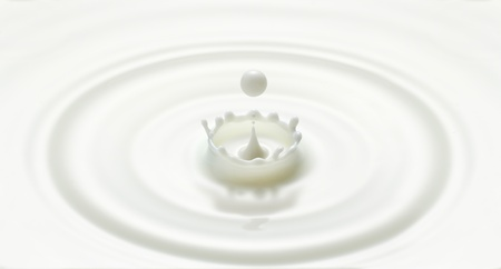 milk drop or white liquid drop created ripple and splash in crown shape Stock Photo - 13515631