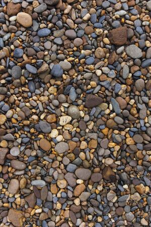 various pebble stones and Peach rock for Textured Background Stock Photo - 13515673