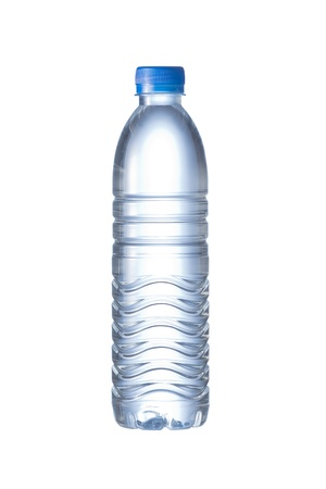 bottled: Pet Bottle of water isolated on the white background