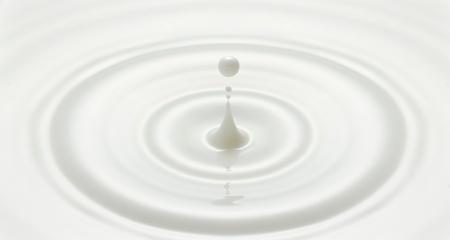 milk drop or white liquid drop created ripple