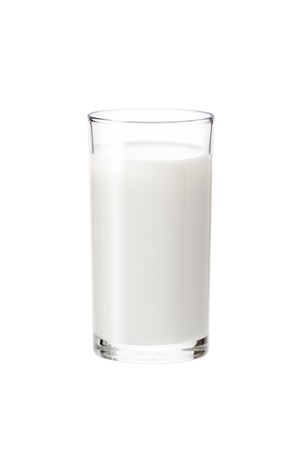 milk in the glass on white background, isolated 版權商用圖片