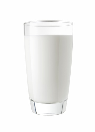 Glass of fresh milk isolated on a white background Zdjęcie Seryjne - 20326834