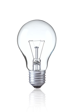 Tungsten Light bulb isolated on white, Realistic photo image 写真素材