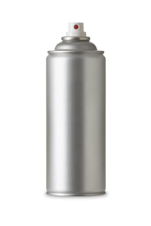spray paint can: Blank aluminum spray can isolated on white background, Aerosol Spray Can , Metal Bottle Paint Can Realistic photo image Stock Photo