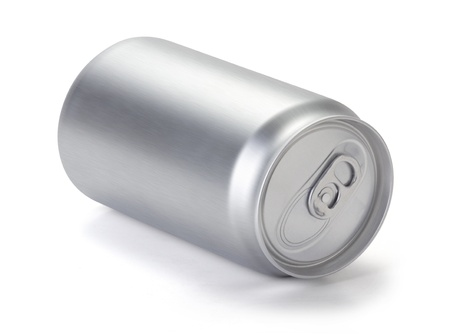 Blank aluminum Soda or beer can, Realistic photo image  Silver can for lager, alcohol, soft drink, lemonade, cola, energy drink, juice, water, isolated on white background