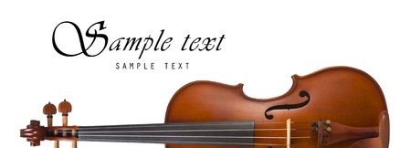 cellos: Violin, Classical shape with Space for text, isolated on white background
