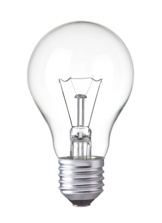 Light bulb, Tungsten bulb, Realistic photo image,  isolated on white background  版權商用圖片