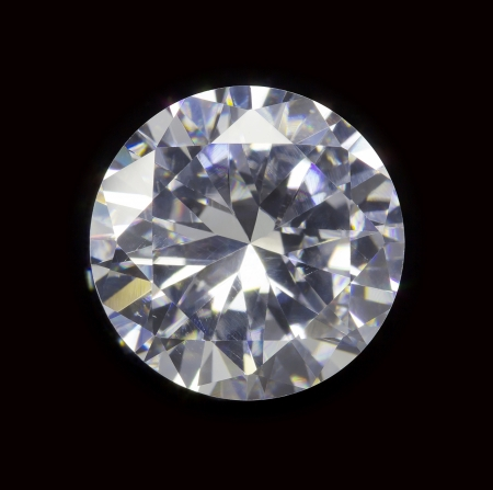 diamond realistic photo image - isolated on black background photo