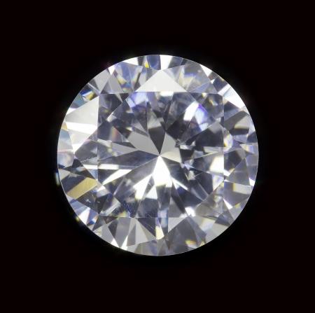 rough diamond: diamond realistic photo image - isolated on black background Stock Photo