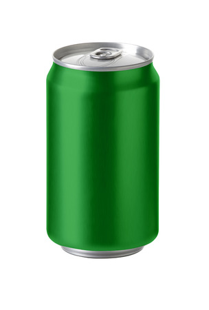Green aluminum cans with blank copy space, ideal for beer, lager, alcohol, soft drink, soda, lemonade, cola, energy drink, juice, water etc , Realistic photo image,
