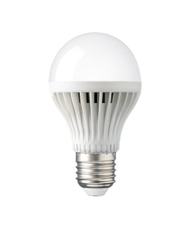 e27: LED, New technology light bulb isolated on white background