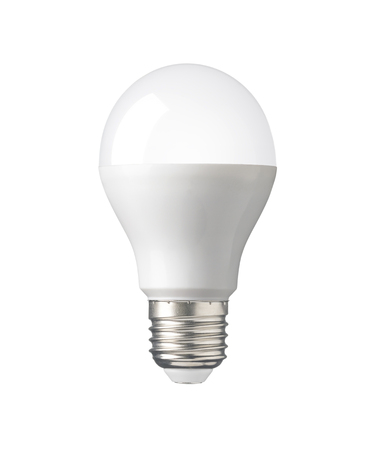 LED, New technology light bulb isolated on white background