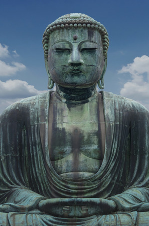 The Great Buddha sculpture is the top landmark of Tokyo, Japan. Kamakura Daibutsu at Kotokuin temple  � The Famous big buddha bronze statue is the popular tourist place in Japan