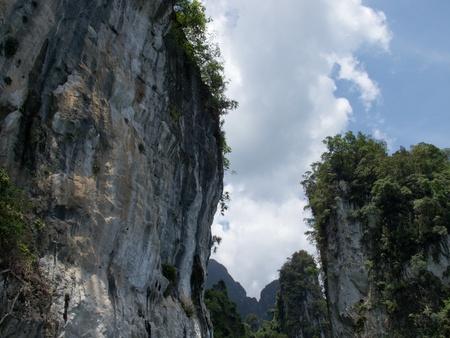 Cliff at Ratchapapa Dam, Thailand Stock Photo