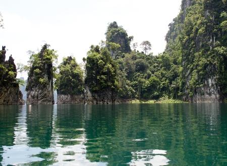 mountain and Ratchapapa Dam, Thailand