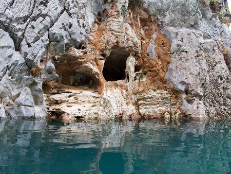 Hole at rock
