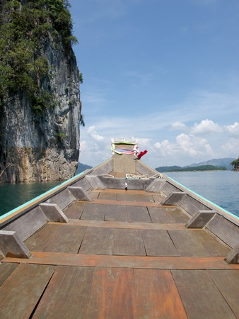 Cloud, Sky, Mountain , Boat and Ratchapapa Dam, Thailand