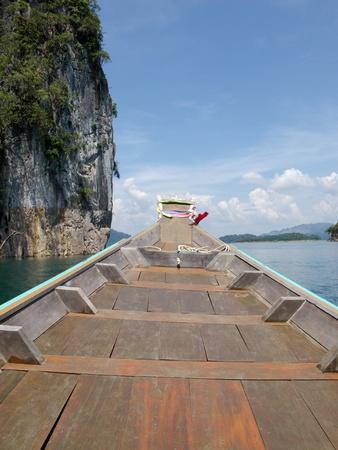 Cloud, Sky, Mountain , Boat and Ratchapapa Dam, Thailand Stock Photo - 9622461