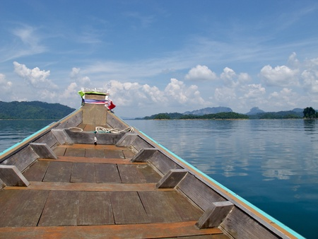 Cloud, Sky, Mountain , Boat and Ratchapapa Dam, Thailand Stock Photo - 9622291