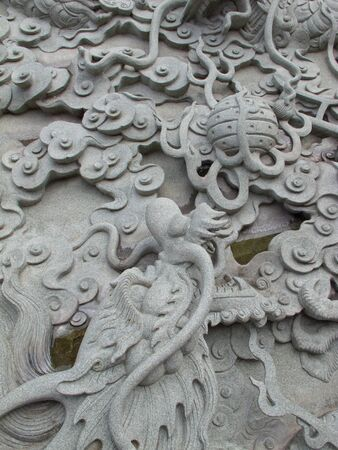 Chinese dragon that is powerful.