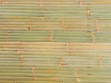 A nice wall made with bamboo.