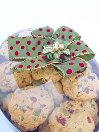 A gift box full of cookies that looks good. photo