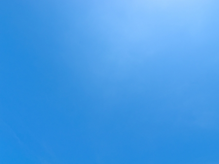 A clear sky in one hot day. Stock Photo