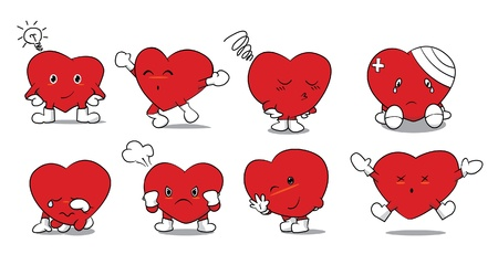 Set of heart Stock Vector - 17185066