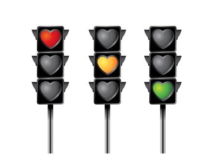 heart traffic light Stock Vector - 17419191