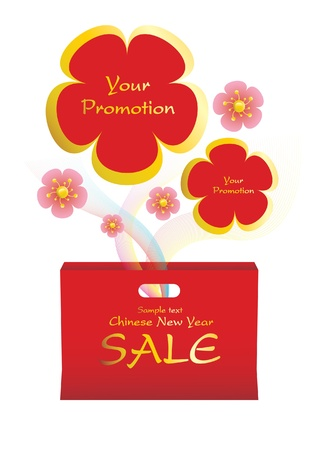 Shopping in Chinese New Year Vector