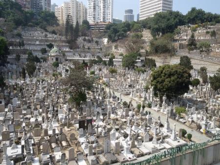 A temetőben Hong Kong Stock fotó