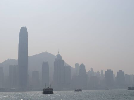 The downtown of Hong Kong in day time