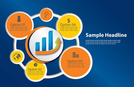 Info graphic template for business theme  Illustration