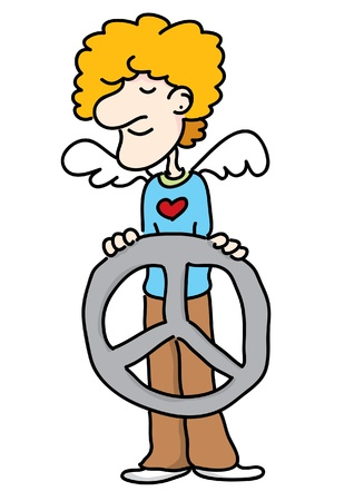 A cartoon of angel peace  Stock Vector - 19968963