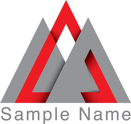 Logo design in theme of strong as mountain. Vector