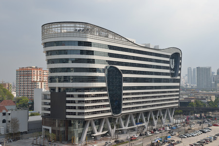 New building, The Unilever Building on Rama 9 street.