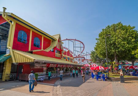 Pathumthani, Thailand - Mar 8 , 2015: A part of Dream World Theme Park. Editorial