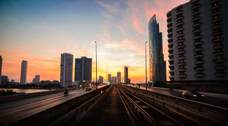 horizental: Taksin Bridge of Bangkok Thailand.