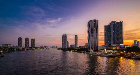 phraya: Chao Phraya River from the view at Tuksin BridgeBangkok Thailand Editorial