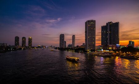 horizental: Chao Phraya River from the view at Tuksin BridgeBangkok Thailand Editorial