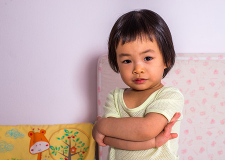 asian toddler: Portrait of an Asian toddler girl